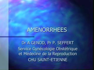 AMENORRHEES