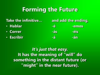 Forming the Future