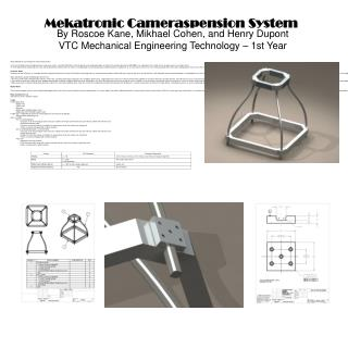 MCU (Mekatronic Cameraspension Unit) Project Outline