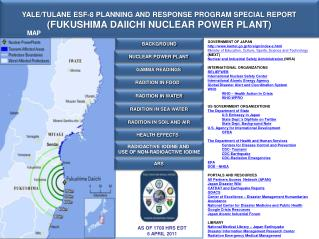 YALE/TULANE ESF-8 PLANNING AND RESPONSE PROGRAM SPECIAL REPORT