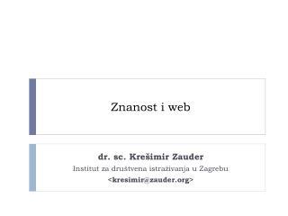 Znanost i web