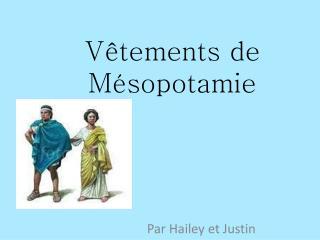 Vêtements de Mésopotamie