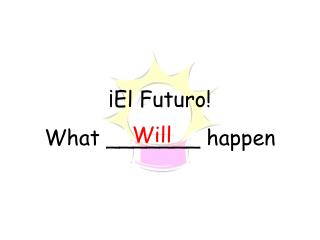 ¡El Futuro! What _______ happen