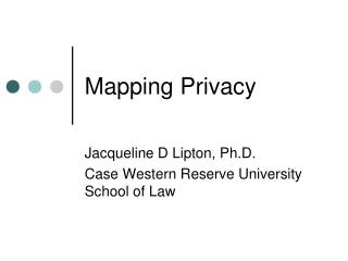 Mapping Privacy