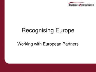 Recognising Europe