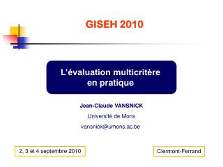 GISEH 2010