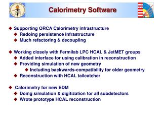 Calorimetry Software