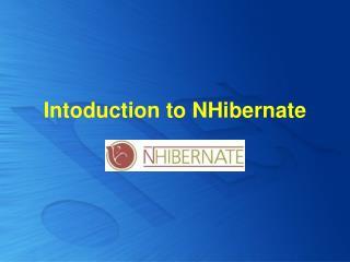 Intoduction to NHibernate