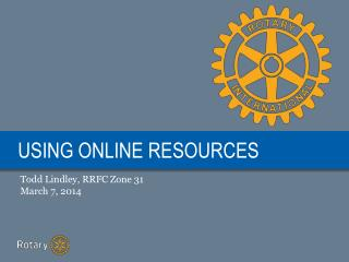 USING ONLINE RESOURCES