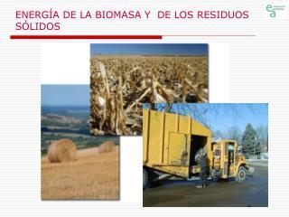 ENERGÍA DE LA BIOMASA Y DE LOS RESIDUOS SÓLIDOS