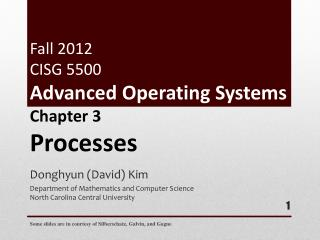 Fall 2012 CISG 5500 Advanced Operating Systems