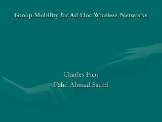 Charles Fico Fahd Ahmad Saeed