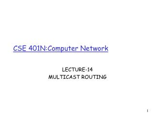 CSE 401N:Computer Network