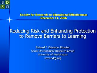 Society for Research on Educational Effectiveness December 11, 2006