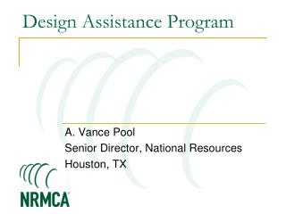 Design Assistance Program