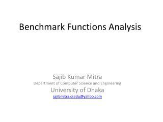Benchmark Functions Analysis