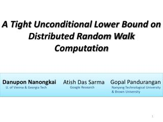 A Tight Unconditional Lower Bound on Distributed Random Walk Computation