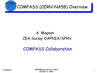 COMPASS (CERN-NA58) Overview