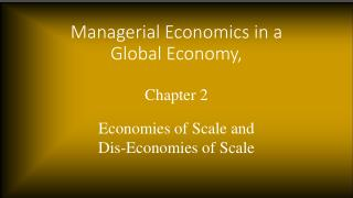 Managerial Economics in a Global Economy,