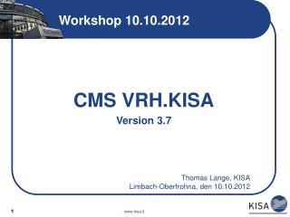 Workshop 10.10.2012