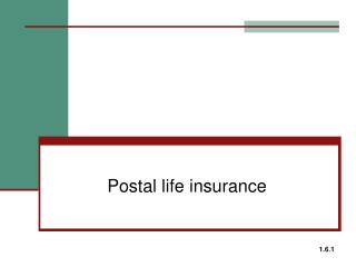 Postal life insurance