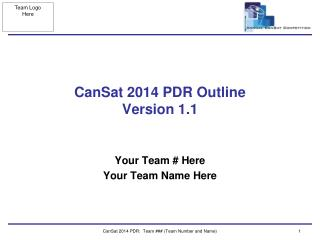 CanSat 2014 PDR Outline  Version  1.1