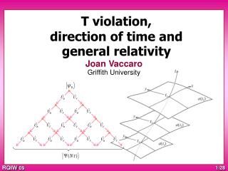 T violation, direction of time and general relativity