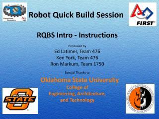 Robot Quick Build Session