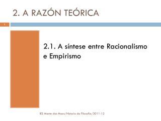 2. A RAZÓN TEÓRICA