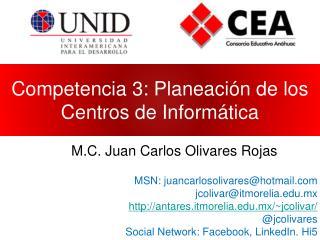 Competencia 3: Planeación de los Centros de Informática