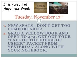 Tuesday, November 13 th