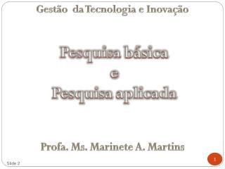 Gestão da Tecnologia e Inovação