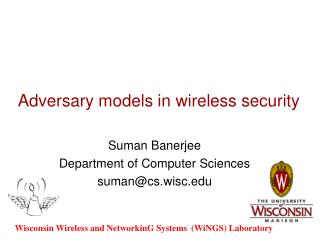 Adversary models in wireless security