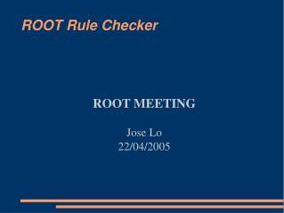 ROOT Rule Checker