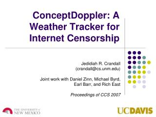 ConceptDoppler : A Weather Tracker for Internet Censorship