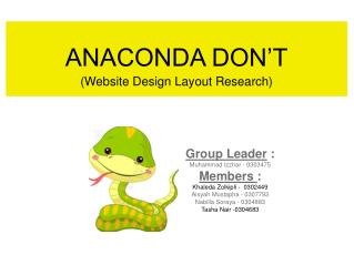 ANACONDA DON'T