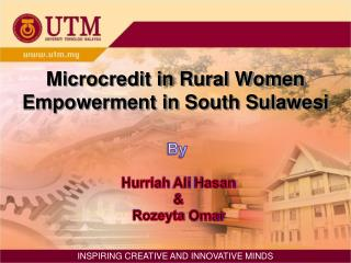 Microcredit in Rural Women Empowerment in South Sulawesi