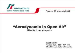 """""""Aerodynamic in Open Air"""" Risultati del progetto"""