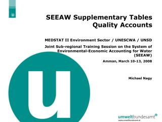 SEEAW Supplementary Tables Quality Accounts