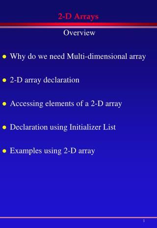 2-D Arrays