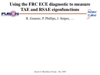Using the FRC ECE diagnostic to measure TAE and RSAE eigenfunctions