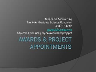 Awards & Project Appointments