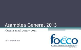 Asamblea General 2013