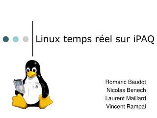 Linux temps réel sur iPAQ