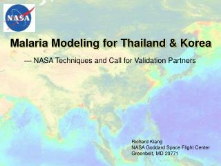 Malaria Modeling for Thailand & Korea