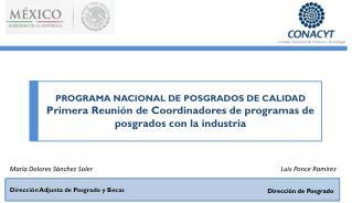 PROGRAMA NACIONAL DE POSGRADOS DE CALIDAD