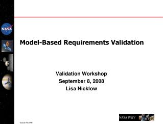 Model-Based Requirements Validation