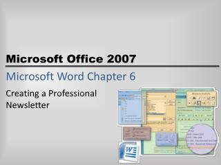 Microsoft Word Chapter 6