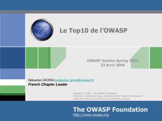 Le Top10 de l'OWASP