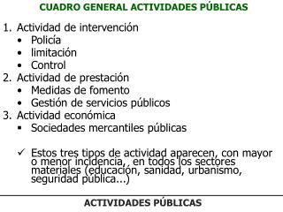 CUADRO GENERAL ACTIVIDADES PÚBLICAS